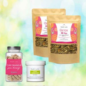 pack-tisane minceur x2 cure draineur cure booster